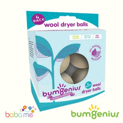 bumGenius Wool Dryer Balls - pack 4