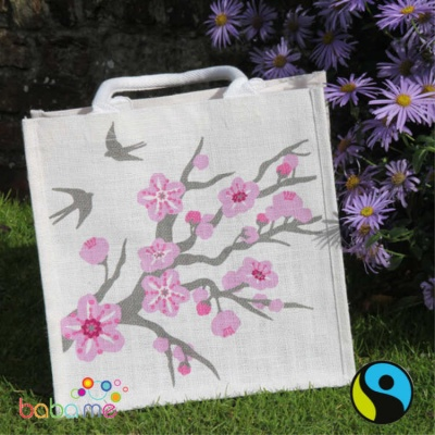 Cherry Tree Jute Shopper - Medium