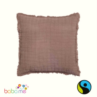 Cocoa Linen & Cotton Cushion Cover
