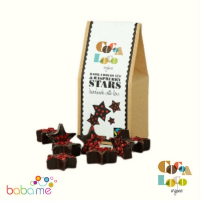 Cocoa Loco - Fairtrade Organic Dark Chocolate Raspberry Star