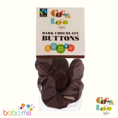 Cocoa Loco Organic Dark Chocolate Buttons 100g
