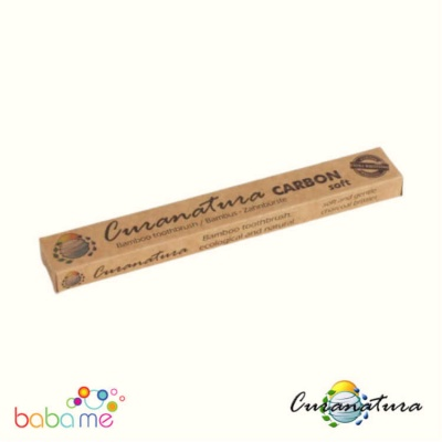 Curanatura Bamboo ''Carbon'' Toothbrush With Charcoal Bristles