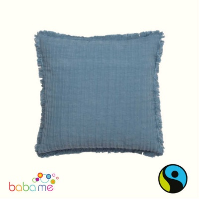 Denim Linen & Cotton Cushion Cover