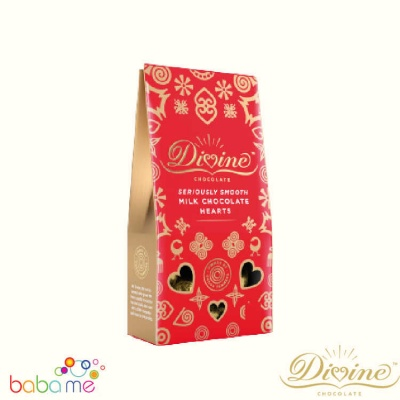 Divine Chocolate - Milk Chocolate Hearts