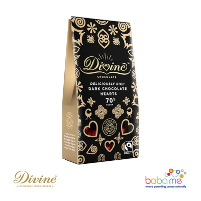 Divine Chocolate - 70% Dark Chocolate Hearts