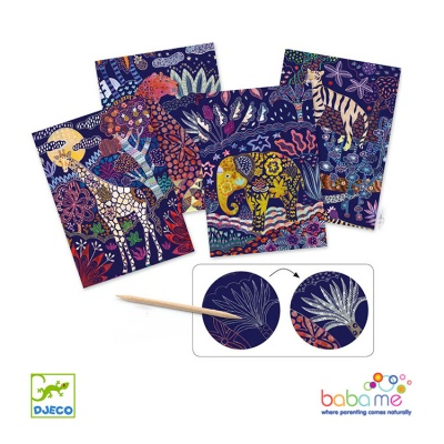 Djeco Lush Nature Scratch Boards