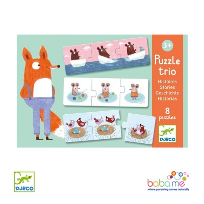 Djeco Stories Educational games - Puzzle trio
