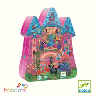 Djeco The Fairy Castle Silhouette Puzzle