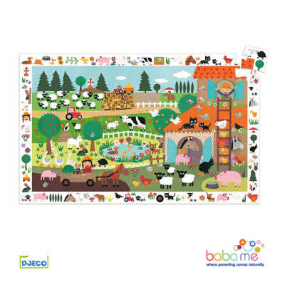 Djeco The Farm Observation Puzzle