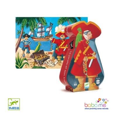 Djeco The Pirate And His Treasure 36 Pieces