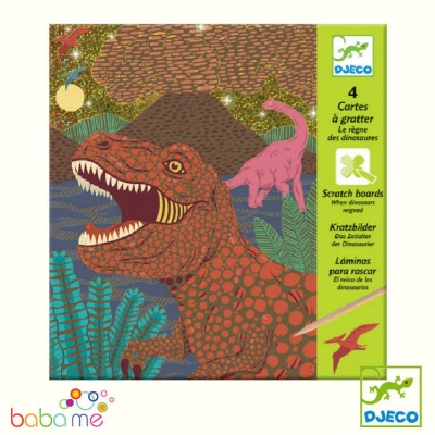 Djeco When Dinosaurs Reigned Scratch Cards