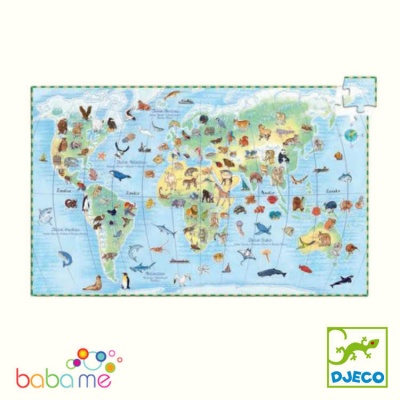 Djeco World's Animals With Booklet 100 Pieces