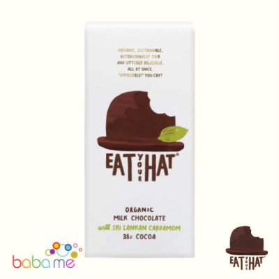 Eat Your Hat Organic Milk Chocolate with Sri Lankan Cardamom