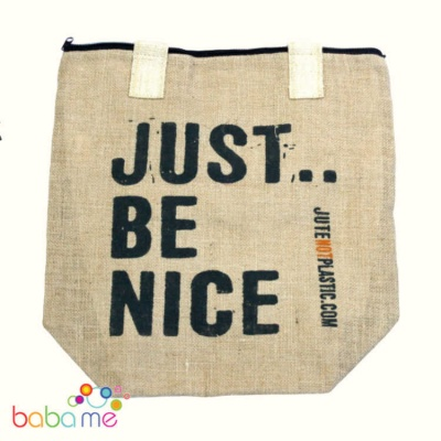 Eco Jute Bag  Just Be Nice