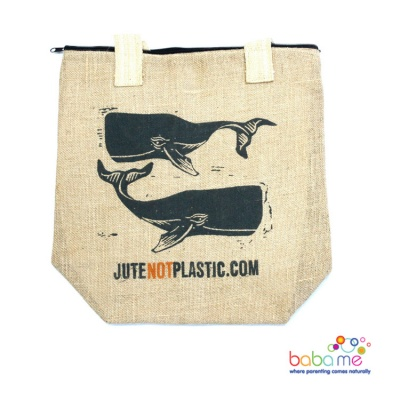 Eco Jute Bag Two Whales