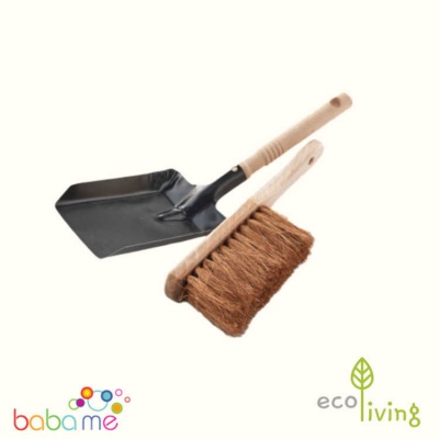 Eco Living Dust Pan & Brush FSC 100%