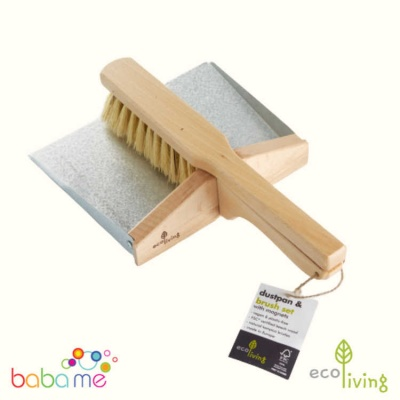 Eco Living Dustpan and Brush Set - with Magnets