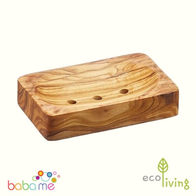 Eco Living Olive Wood Soap Dish Rectangle