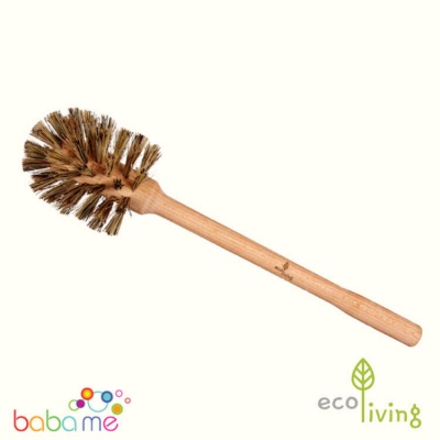 Eco Living Plastic Free Toilet Brush - Larger Brush