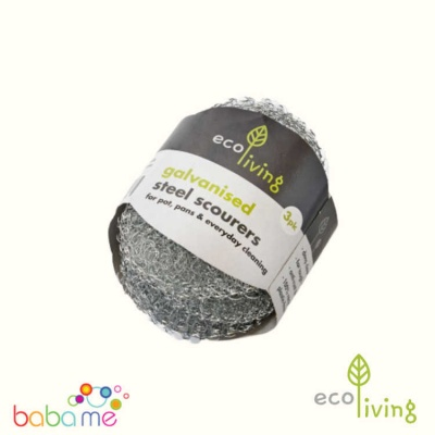 Eco Living Steel Scourers - 3 Pack
