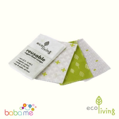 Eco Living Vegan Food Wraps A Set Of 3