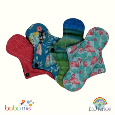 Eco Rainbow Reusable Sanitary Pads Regular Plus