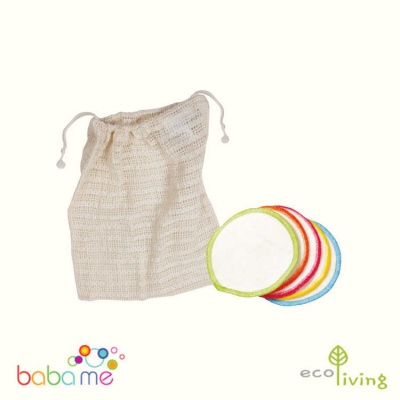 Eco Living 10 Organic Make Up Remover Wipes & Wash Bag