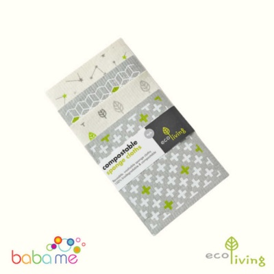 Eco Living Compostable Sponge Cleaning Cloths 4 Pack