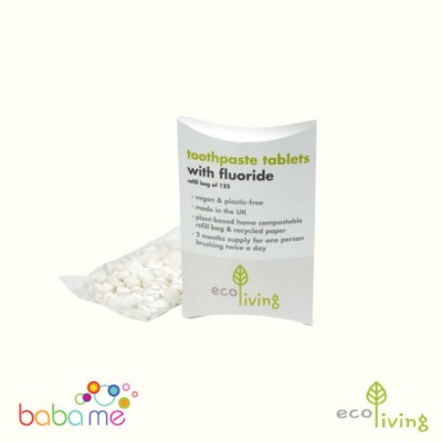Eco Living Toothpaste Tablets Fluoride Pack 125