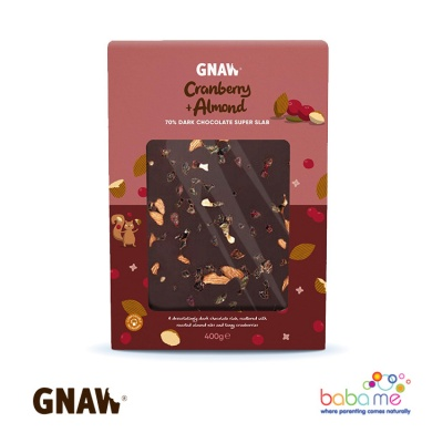 Gnaw Almond & Cranberry Dark Chocolate Superslab