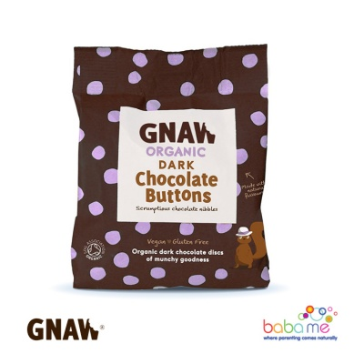 Gnaw  Organic Dark Chocolate Buttons