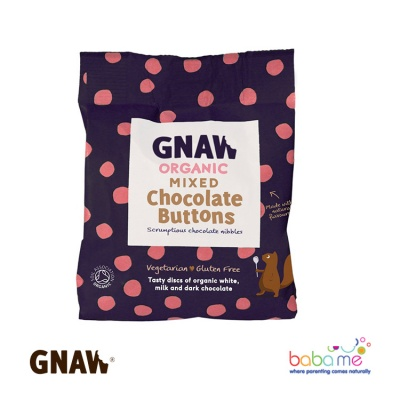 Gnaw Organic Mixed Chocolate Buttons