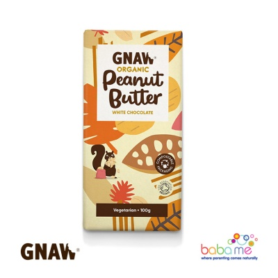 Gnaw Organic Peanut Butter White Chocolate Bar