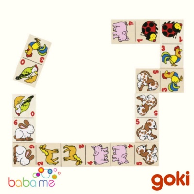 Goki Animal Domino Game