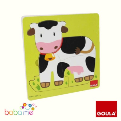 Goula 3 Level Wooden Cow Puzzle