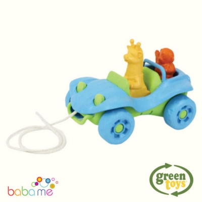 Green Toys Dune Buggy Pull Toy Blue