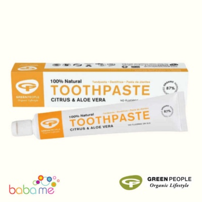 Green People Citrus And Aloe Vera Natural Toothpaste