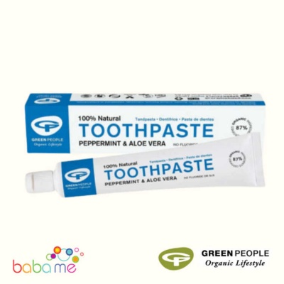 Green People Peppermint And Aloe Vera Natural Toothpaste