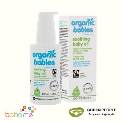 Green People Organic Babies Nurturing Scent Free Baby Oil