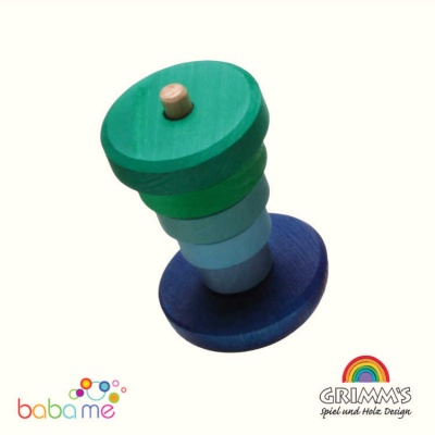 Grimms Wobbly Stacking Tower, blue-green