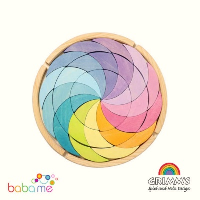 Grimm's Building Set Colour Wheel Pastel