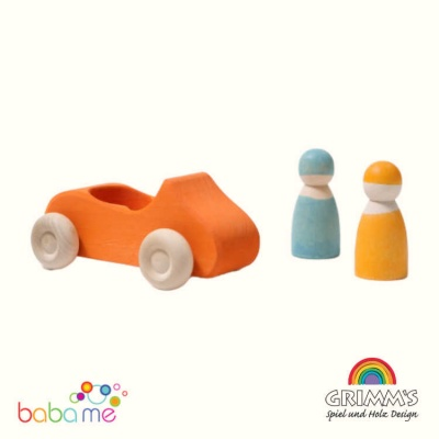 Grimm's Large Convertible Orange Toy Car