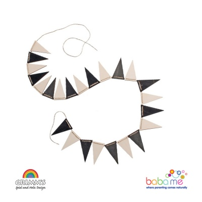 Grimms Monochrome Bunting Banner