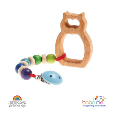 Grimms Pacifier Chain, Rainbow Colours