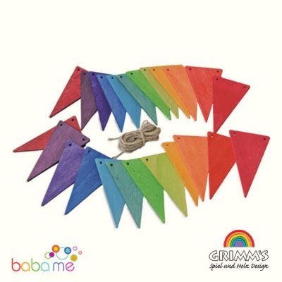 Grimms Rainbow Bunting Banner