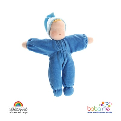 Grimms Soft Doll, blue