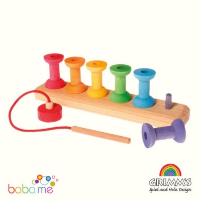 Grimms Threading Game Small Bobbins