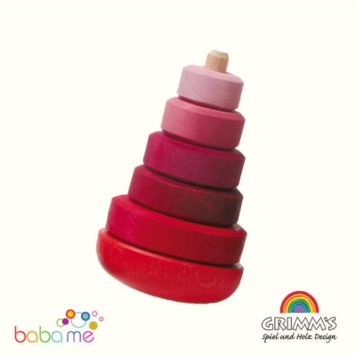 Grimms Wobbly Stacking Tower, pink