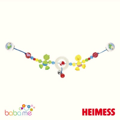 Heimess Pram chain duck and frog with clips