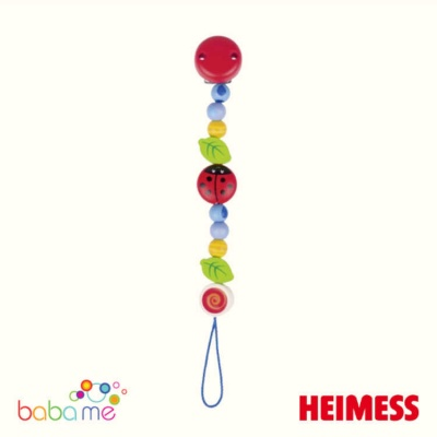 Heimess Soother chain ladybird I